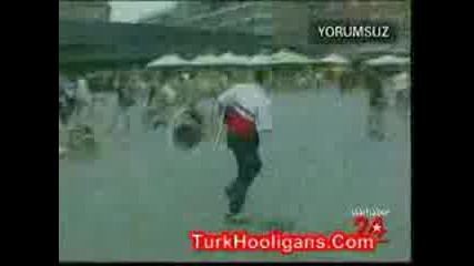 Turkish And English Hooligans