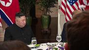 Vietnam: Trump and Kim Jong-un sit down for dinner in Hanoi