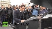 France: Pianist plays John Lennon's 'Imagine' as mourners gather on Place de la Republique