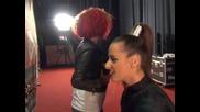 X Factor Теди и Жана преди Live концерт - 05.12.2013 г