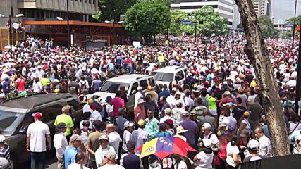 Venezuela: Thousands attend pro-Guaido rally in Caracas