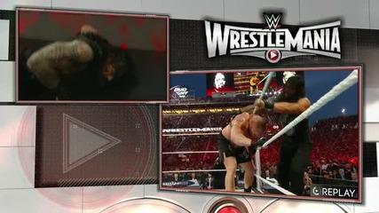 [wrestlemania 31]- Brock Lesnar vs Roman Reigns - (wwe World Heavyweight Championship)