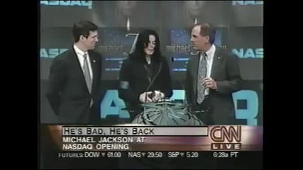 Michael Jackson -opens Nasdaq 2001