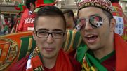 France: Austrian and Portuguese fans get in the mood before teams face off in Paris