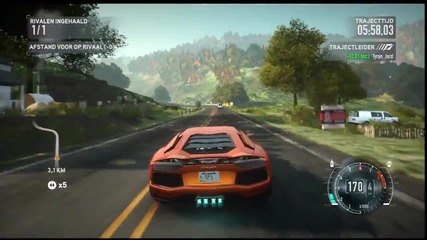 Need For Speed_ The Run _ Lamborghini Aventador Lp700-4 vs Mila Belova 370z - Deer Park [ps3] [hd]