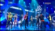 Бг превод! Super Junior - Super Man Comeback Stage ( Високо качество )