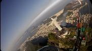 Птичи поглед над статуята на Исус Христос - Рио де Жанейро