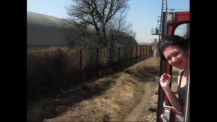 Пристигане на Волуяк с парния локомотив