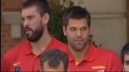 Преди Световното: Испанските баскетболни национали се срещнаха с премиера