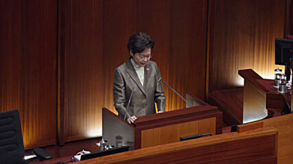 Hong Kong: Carrie Lam praises impact of national security law imposed by Beijing