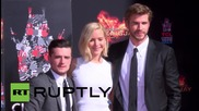 USA: Hunger Games co-stars leave their mark in Hollywood