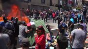 Chile: Protesters burn migrant camp belongings during mass anti-immigration protest in Iquique