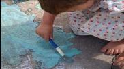 Рисунки на пътя - детска песничка