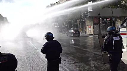 France: Water cannons deployed against protesters challenging mandatory COVID-19 health pass