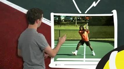 Тенис уроци : Създаване на топспин във форхенда