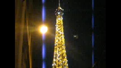 Айфеловата Кула В Париж През Нощта