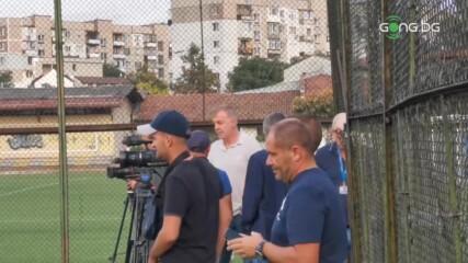 """Наско Сираков наблюдава заниманието на """"сините"""""""