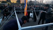 Armenia: Protesters set up camp in front of Parliament building