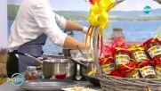 """Рецептите днес: Лимецово ризото с пикантни кестени и гъби и лимонов меренг - """"На кафе"""" (27.10.2021)"""