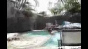 Леко пребиване преди скачане в басейн