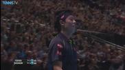 Barclays Atp World Tour Finals 2015 - Nishikori Makes Backhand Hot Shot