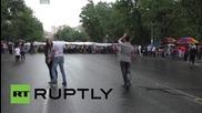 Armenia: Rain dance! Protesting couples do a little dance in Yerevan