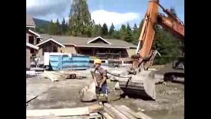 Как Се Забавляват Работниците По Строежите
