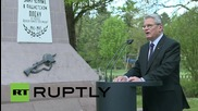 Germany: Gauck visits former WWII POW camp ahead of V-Day