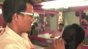 Индийски бръснар , постригва , без ножици .