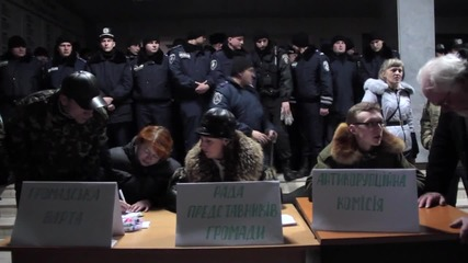 Ukraine: Krivoi Rog City Council stormed in protest against mayoral elections