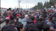 Greece: Camp overcrowded as refugees remain stranded at Idomeni border