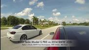 Tesla Model S P85 vs Bmw 335i