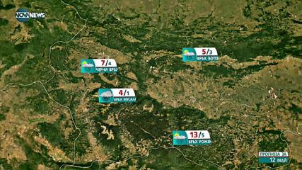 Прогноза за времето на NOVA NEWS (12.05.2021 - 10:00)