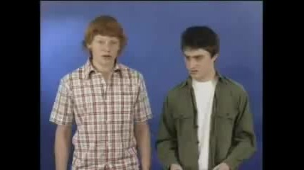Mat Waters and Daniel Radcliffe - December Boys Test 1