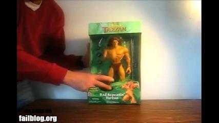 +18 Тарзан си бие чикии