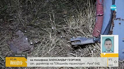 """""""Дръжте крадеца"""": Задигнаха 250 метра от тролейбусната мрежа в Русе"""