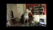 Wii tennis accident