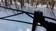 Газов пистолет срещу снежни топки :)