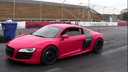 Audi R8 vs. Nissan G T R - Drag Race
