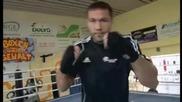 Кобрата - тренировка и интервю преди мача с Александър Устинов