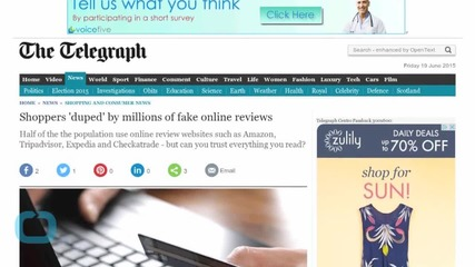 Shoppers 'duped' by Millions of Fake Online Reviews