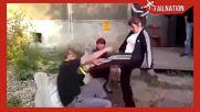 Пияни руснаци скачат на бой - Компилация