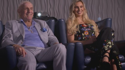 Charlotte and Ric Flair look back on the most surreal match of her career on WWE Photo Shoot (WWE Network Exclusive)