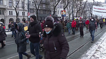 Austria: Protesters rally against COVID measures in Vienna