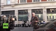 UK: Jeremy Clarkson arrives at BBC for first interview since Top Gear sacking