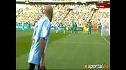 12.06.2010 Aржентина - Нигерия - 1:0 Гол на Хайнце - Мондиал 2010 Юар