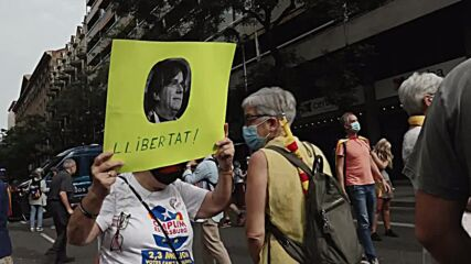 Spain: Hundreds of demonstrators demand Puigdemont's release outside Italian consulate in Barcelona