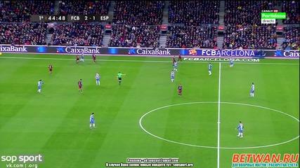 Изумителният гол на Меси срещу Еспаньол за 2:1 !!!