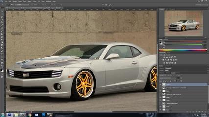 Photoshop Cs6 | Virtual Car Tuning | Chevrolet Camaro Ss #1