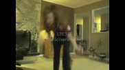 Girl's Crotch Shot Leaping Bricks In Living Room 2840